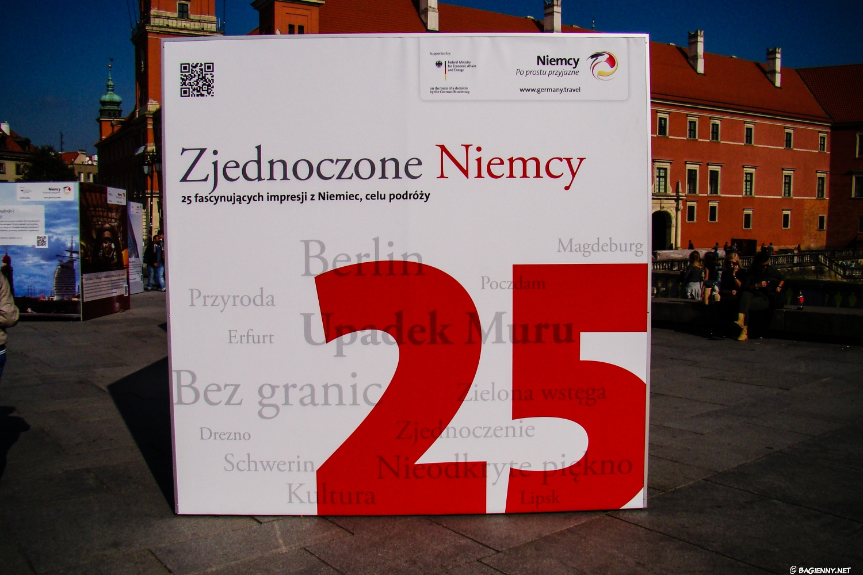 Plenerowa wystawa na placu Zamkowym - Zjednoczone Niemcy