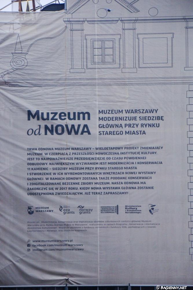 Stare Miasto - Muzeum Warszawy - renowacja kamienic przy rynku