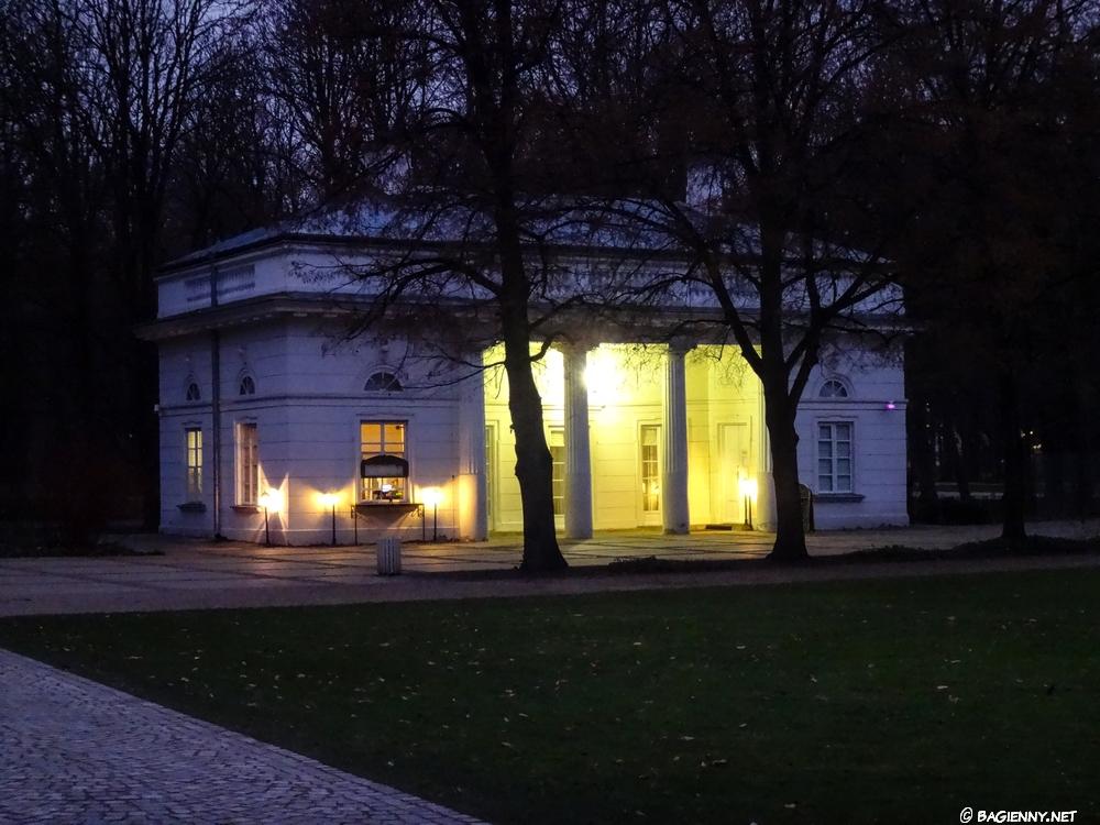 Łazienki Królewskie - zmierzch