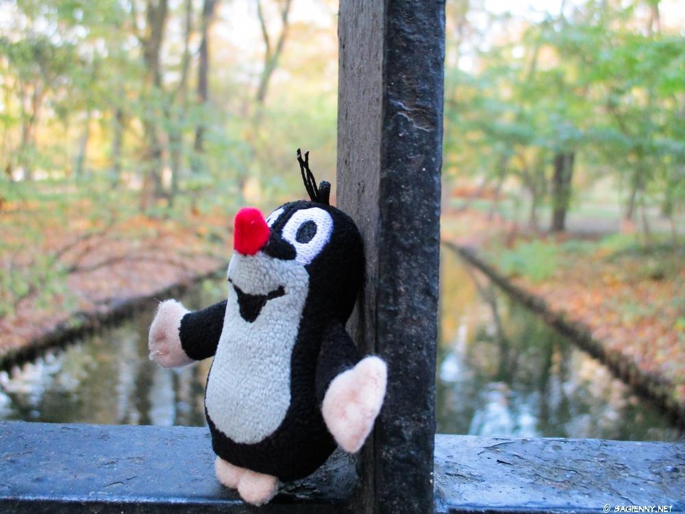 The Little Mole on the bridge